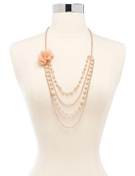 Chiffon Blossom Layered Necklace: Charlotte Russe