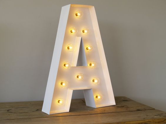 Hollywood letter a with lights carnival letters light up for Hollywood light up letters