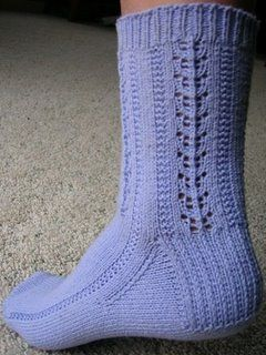 Knitting Pattern For Cotton Socks : free sock knitting pattern - Panda Cotton Periwinkle Socks ...