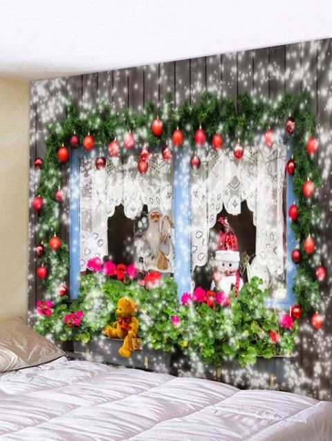 Christmas Theme Print Tapestry Wall Hanging Decoration Christmas Wall Decor Wall Hanging Christmas Tree Printed Tapestries