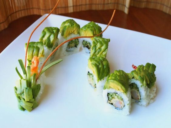 Dragon roll and Dragon on Pinterest