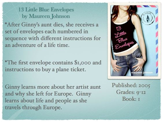 Young Adult Reading Machine: 13 Little Blue Envelopes by Maureen Johnson
