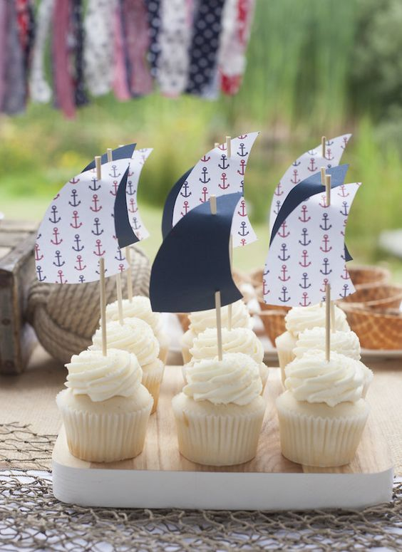 Vintage Nautical Birthday Party via Kara's Party Ideas | The Place For All Things Party! KarasPartyIdeas.com (46)
