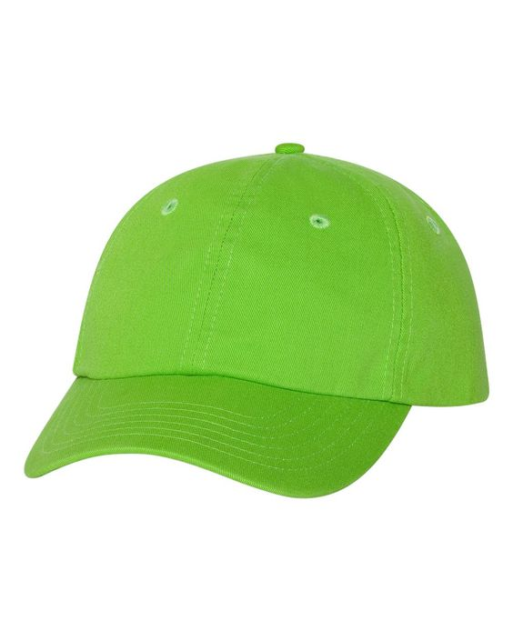 Valucap - Adult Bio-Washed Unstructured Cap - VC300A Neon_green