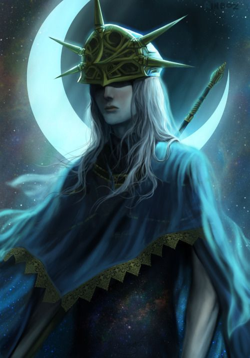 All hail the lord of IrithyllDark sun Gwyndolin in his prime. I'm so glad that finally, he threw that ring away and stepped out of his father's shadow. He no longer hid behind his own illusions, of course, that's before he's eaten alive. His Irithyll...