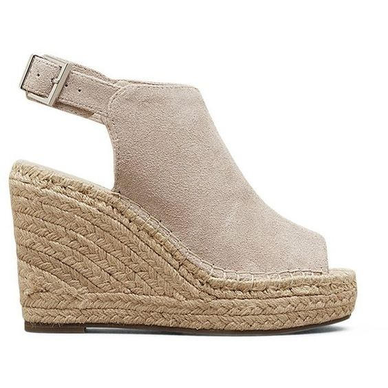 Kenneth Cole New York Women's Olivia Espadrille Wedge Sandal ($74) ❤ liked on Polyvore featuring shoes, sandals, wedge sandals, wedge sole shoes, espadrille sandals, wedge heel shoes and espadrille shoes