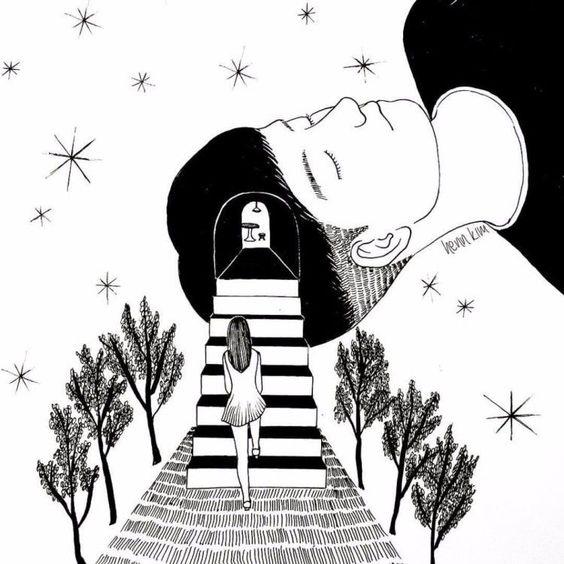 Estas 20 ilustraciones reflejan como es enamorarse y sufrir - TKM Chile