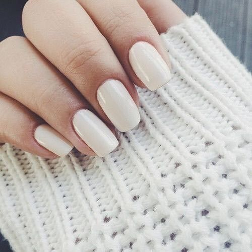 21 Pretty neutral nail color ideas - Pretty nail color #nails