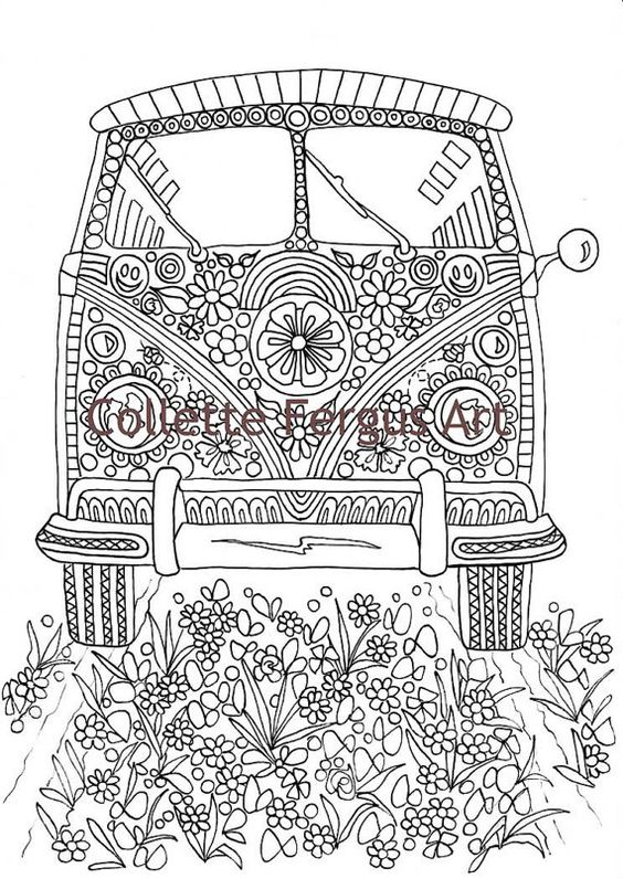 hippie coloring pages - photo#28