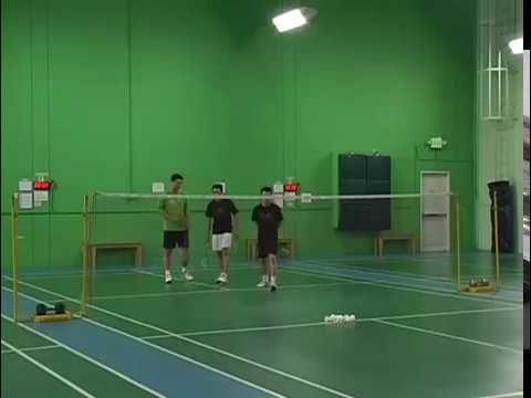 Badminton Doubles Serve And Service Return Drill Kevin Han Badminton Doubles Badminton Badminton Sport