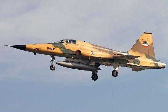 © KHASHAYAR TALEBZADEH A Northrop F-5 fighter, this one operated by the Iranian Air Force.