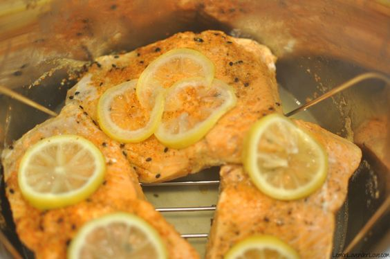 4finished cooking the salmon in the ip instant pot for Instant pot fish recipes