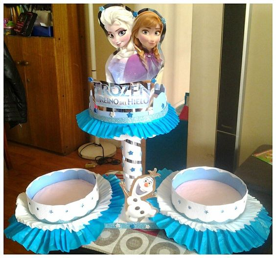 Centros de mesa frozen manualidades pinterest frozen search and ps - Centros de mesa de frozen ...