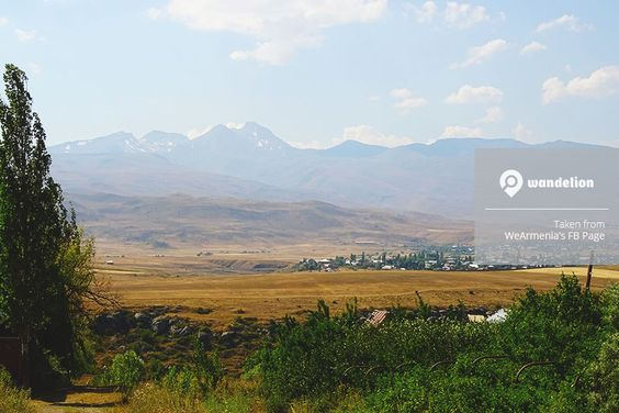 View of Mount Aragats from Mount Ara, #Armenia. #Wandelion #Landscape #Nature #Photography