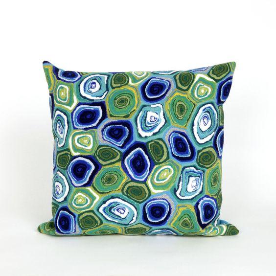 Visions III Murano Swirl Throw Pillow