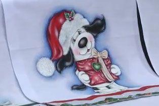 11/11/2013 Projeto cachorrinho natalino – Gislaine Mara - Pintura em tecido