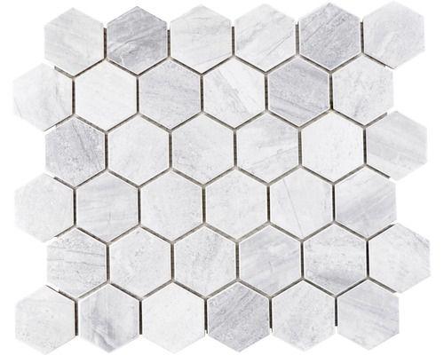 Keramisch Mozaiek Ctr Hx21gm Hexagon Grijs Mat 32 5x28 1 Cm Mozaiektegels Mozaiek Tegels