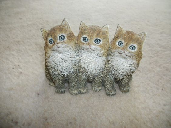 Just Adorable Danbury Mint T Janner 97 Three Little Kittens Resin Cat Ornament | eBay