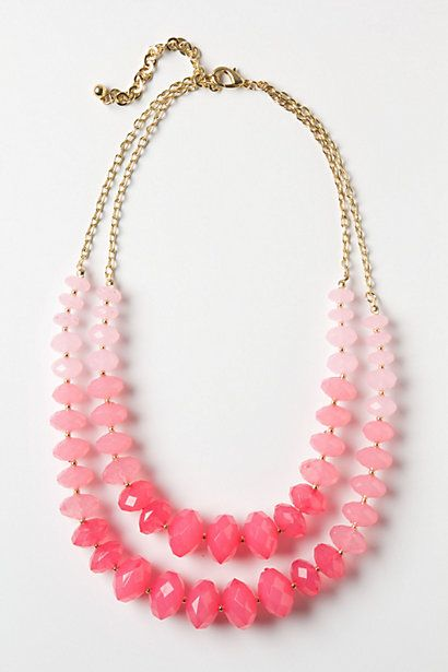 Pink Ombre Necklace- perfect for a fashionable bride-to-be !