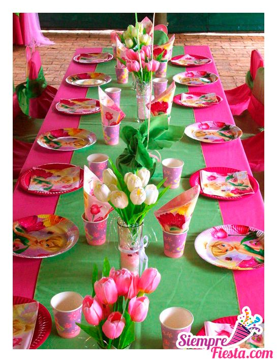 Ideas para fiesta de cumplea os de campanita tinkerbell for Articulos para decoracion