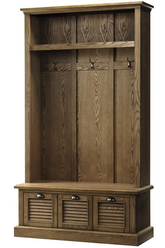 Buy Foyer Furniture : Shutter locker storage hall trees entryway furniture
