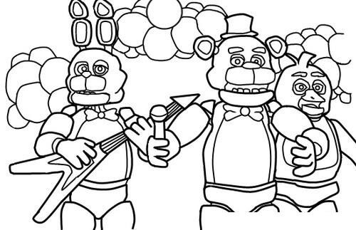 Dazzling Design Fnaf Coloring Pages Printable Five Nights At