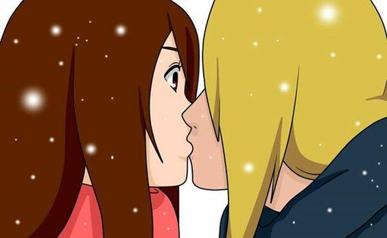 Ich und Deidara beim küssen <3 (selbst gemalt)