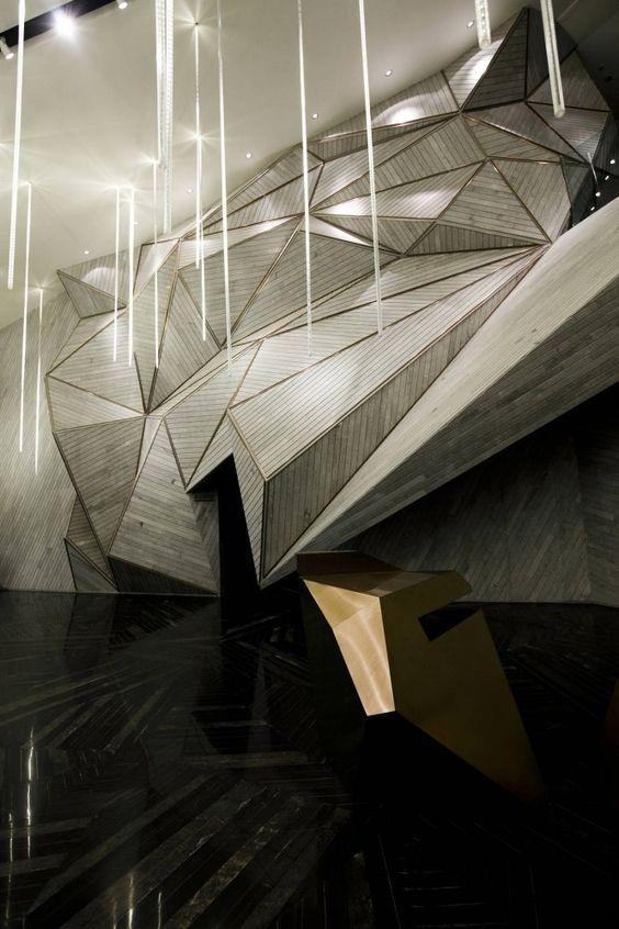 Office Interior / One Plus Partnership #geometric #geodesic #polygonal #interior #decor
