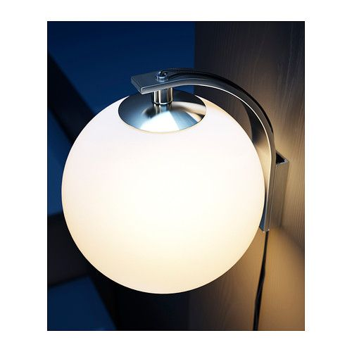 Minut wall lamp ikea flexible can be mounted with the for Plug in sconce ikea