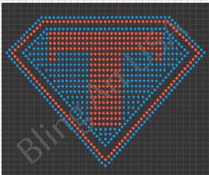 Super T Rhinestone Design Pattern File Download