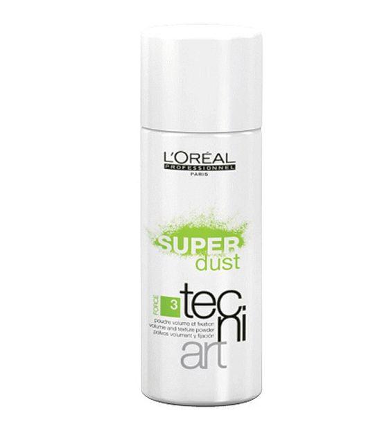 L'Oréal TECNIART SUPER DUST 7 GRS  Polvo de peinado. Crea una fijación fuerte que maximiza el volumen y es ideal para cardados y recogidos.