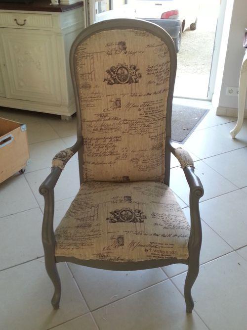 Fauteuil relooker des meubles pinterest - Relooker un fauteuil ...