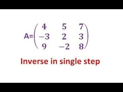 How To Find The Inverse Of 2 2 And 3 3 Matrix Using Shortcut