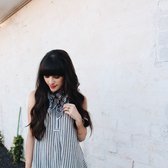New Darlings - ModCloth + Spring Favorites - striped blouse and printed scarf