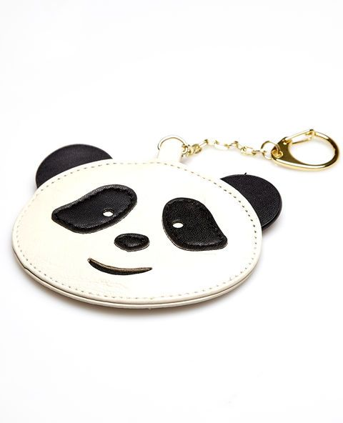 <p>A cute panda bear key chain made of faux leather with a metal chain and key ring clip.</p>  <ul> <li>Man Made Materials / Metal</li> <li>Imported</li> </ul>