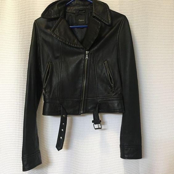 Express cropped Moto leather jacket Express cropped Moto leather jacket. No signs of wear. Express Jackets & Coats