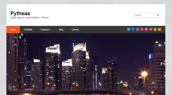 Pytheas, WordPress Free Portfolio Theme