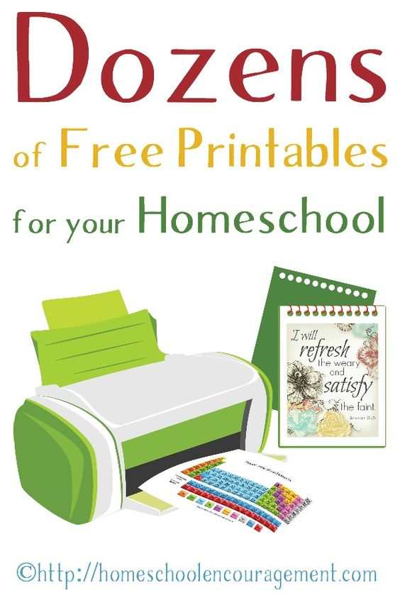 Free Printable Worksheets for Homeschool Learning | Worksheets ...