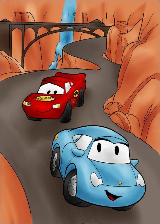 Dc lightning mcqueen and sally by vanillacoke life is a highway - Voiture sally cars ...