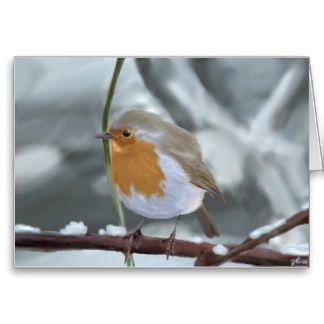 Robin-Grußkarte