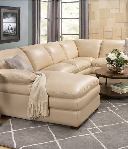 Luxurious Leather Sectional For Any Room Slumberland Furniture Left Facing Chaise Living Room Furniture #slumberland #living #room #sets