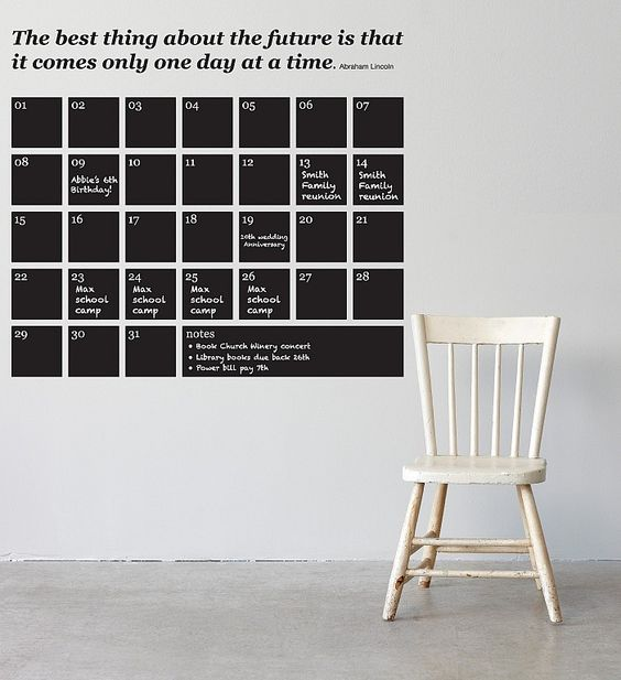 I am in love with this Blackboard Calendar