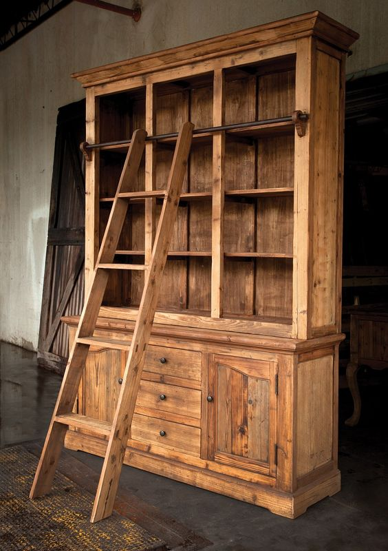 Rustic Study Hutch - Almost a complete room of furniture all on its own! $4949.