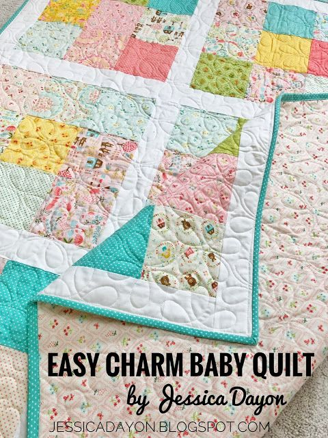 Free Pattern Easy Charm Baby Quilt 2 Charm Packs Fabric