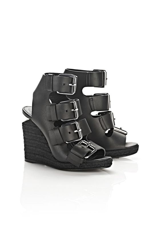 JO ESPADRILLE WEDGE SANDAL WITH RHODIUM | Heels | Alexander Wang Official Site