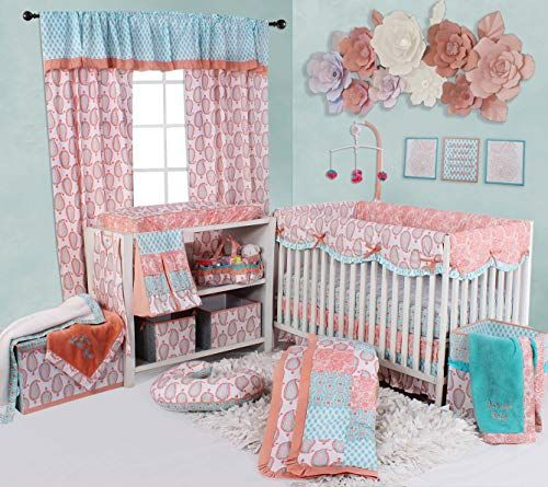 Bacati Sophia Paisley 10 Pc Girls Crib Baby Bedding Set Https Www Amazon Com Dp B0793nbvpl Ref Cm Sw R Pi In 2020 Baby Crib Bedding Baby Bedding Sets Girl Cribs