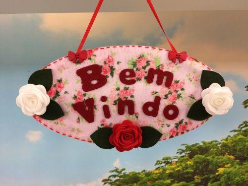 Arte Brasil | Enfeite+Bem-Vindo - Rosana+Noriko