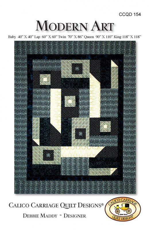 Modern Art Quilt Pattern by Debbie Maddey for Calico Carriage Quilt Designs #CCQD154 Adecuado para un BORO???