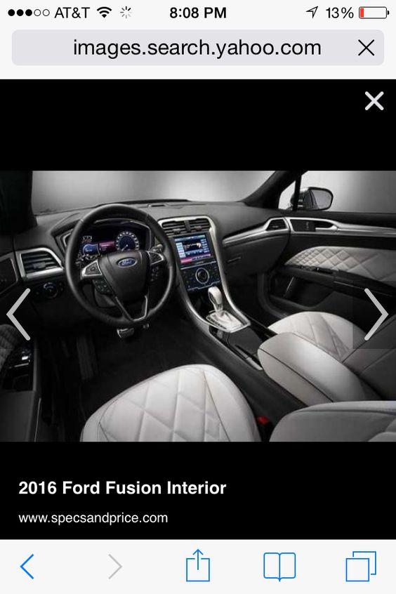 2016 Ford Fusion Interior!
