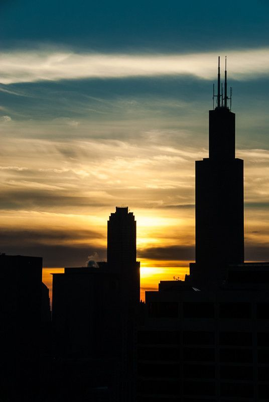 Sunset Gradient over Sears Tower